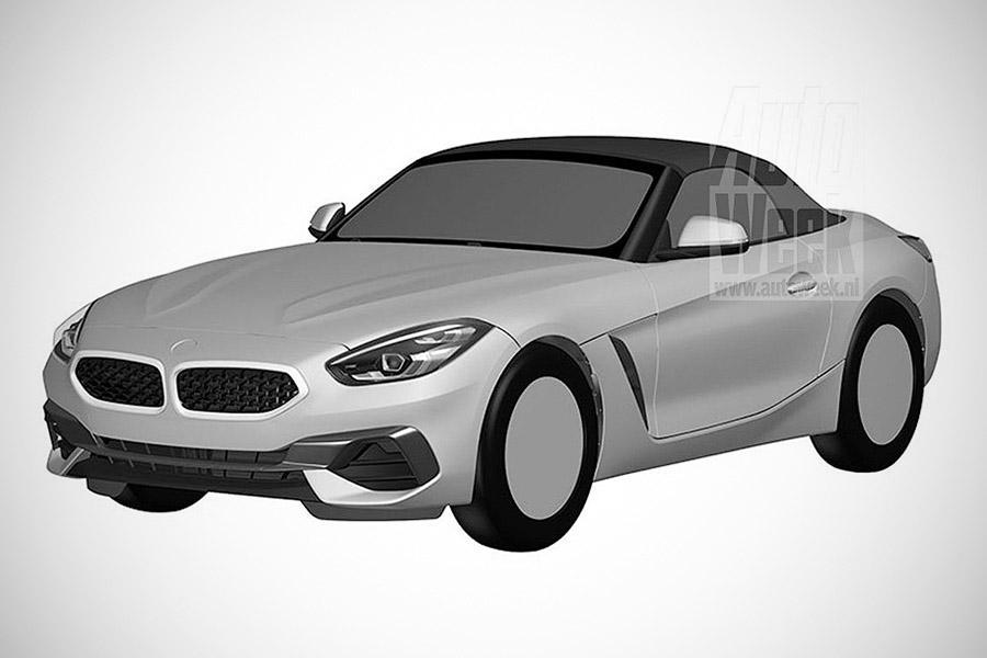 BMW Z4 показали на патентных рисунках
