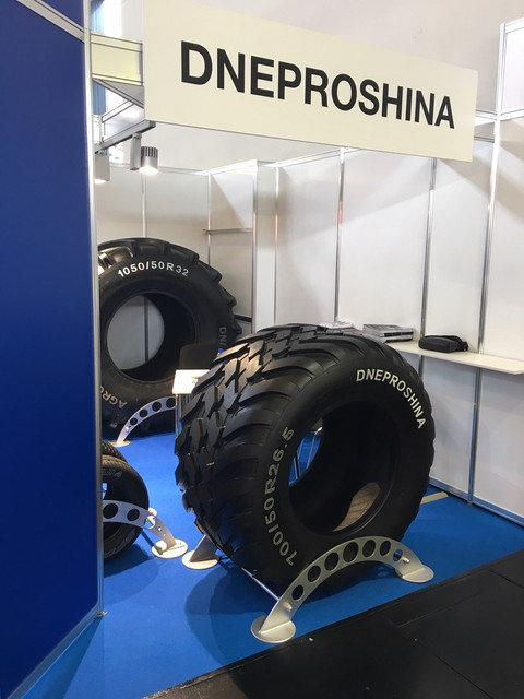 Dneproshina представила в Кельне шины для фермеров и военных