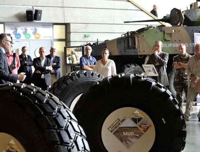 На выставке Eurosatory 2018 Мишлен представил шины для военной техники
