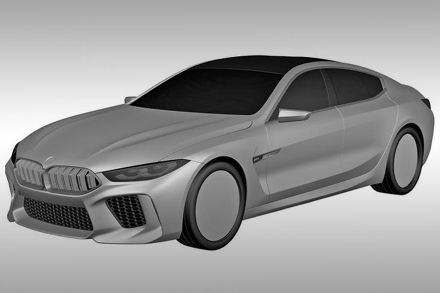 В сеть выложили патентные рисунки BMW 8-Series Gran Coupe