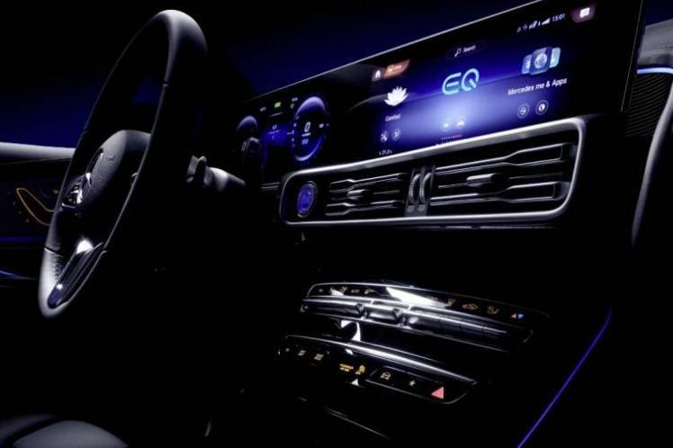 Daimler показал второй тизер электрокроссовера EQC