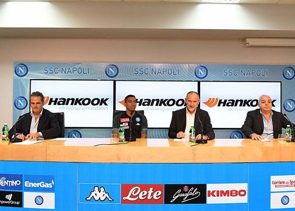 Hankook Tire Italia и S.S.C. Napoli объявили о партнерстве