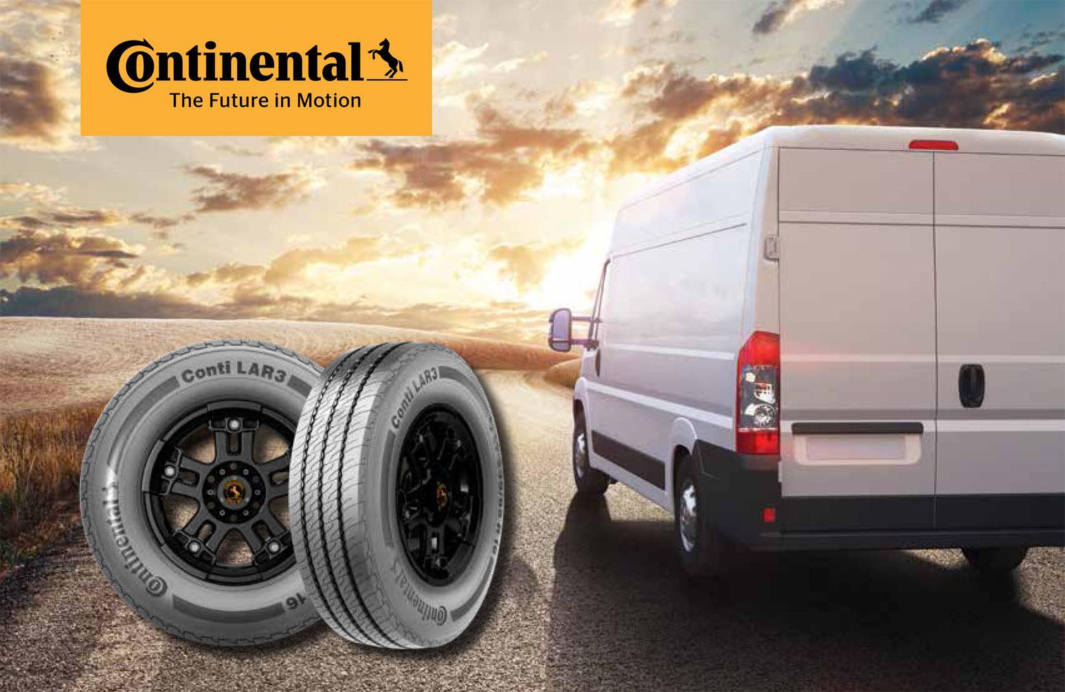 Continental запускает новые коммерческие шины Conti LAR 3 с увеличенным сроком службы