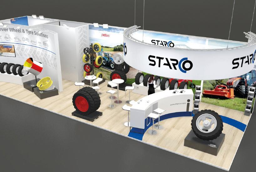 Starco представит на выставке в Берне системы сдвоенных колес для сельхозтехники