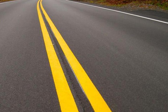 Минтранс рекомендовал сменить цвет дорожной разметки