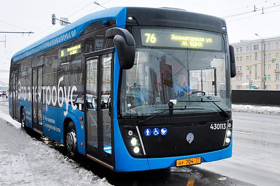 Электробусы осваивают еще один московский маршрут