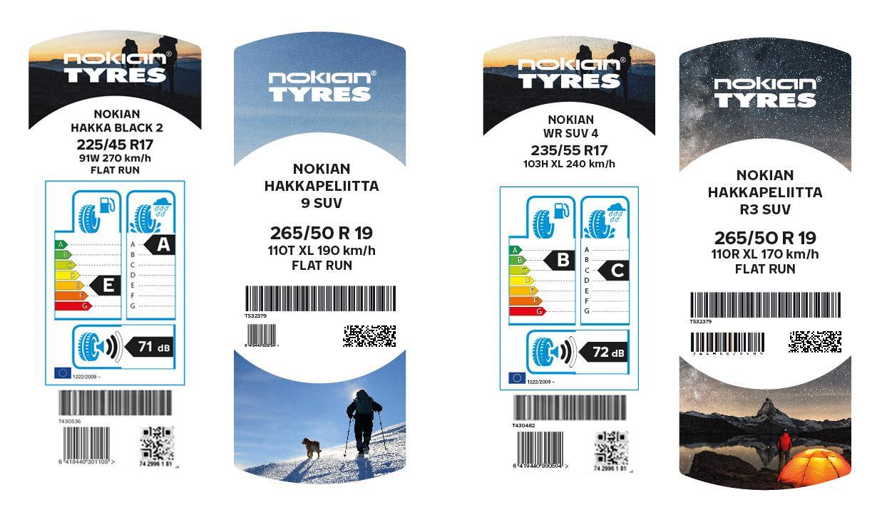 Nokian Tyres обновляет дизайн шинных этикеток