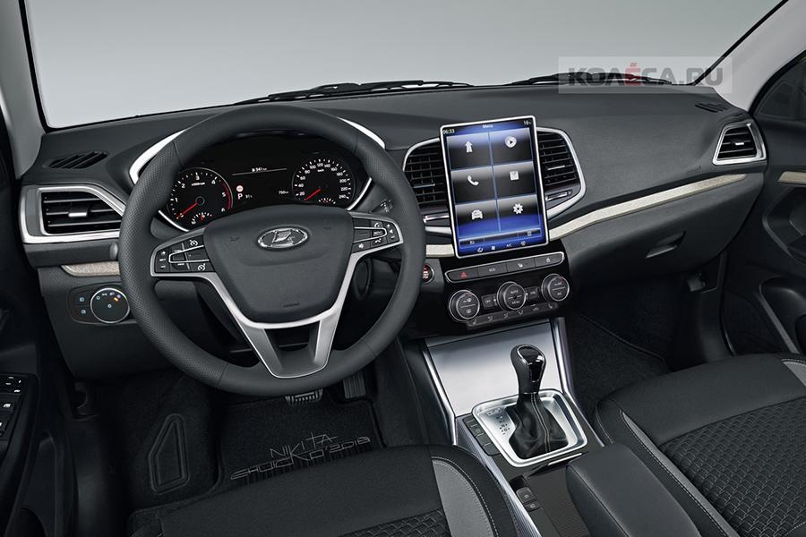 Возможный интерьер рестайлинговой Lada Vesta: есть качественное изображение