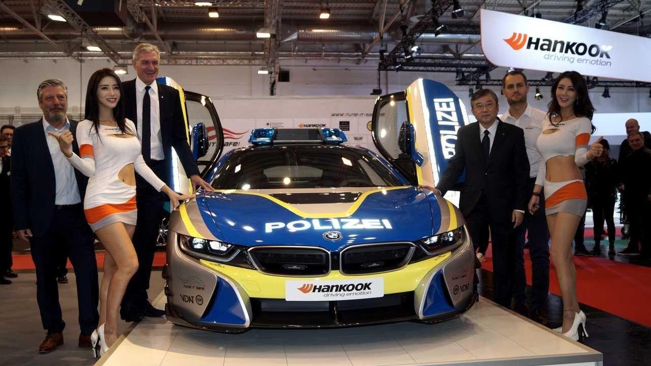 Полицейский BMW i8 от AC Schnitzer получил новые шины Hankook Ventus S1 evo 3