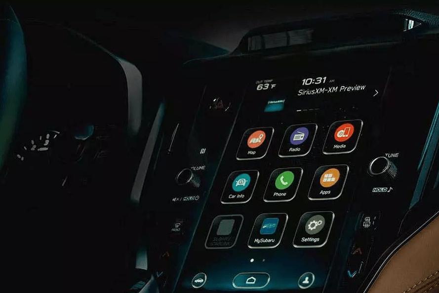 Subaru Legacy хвастается новой мультимедийкой