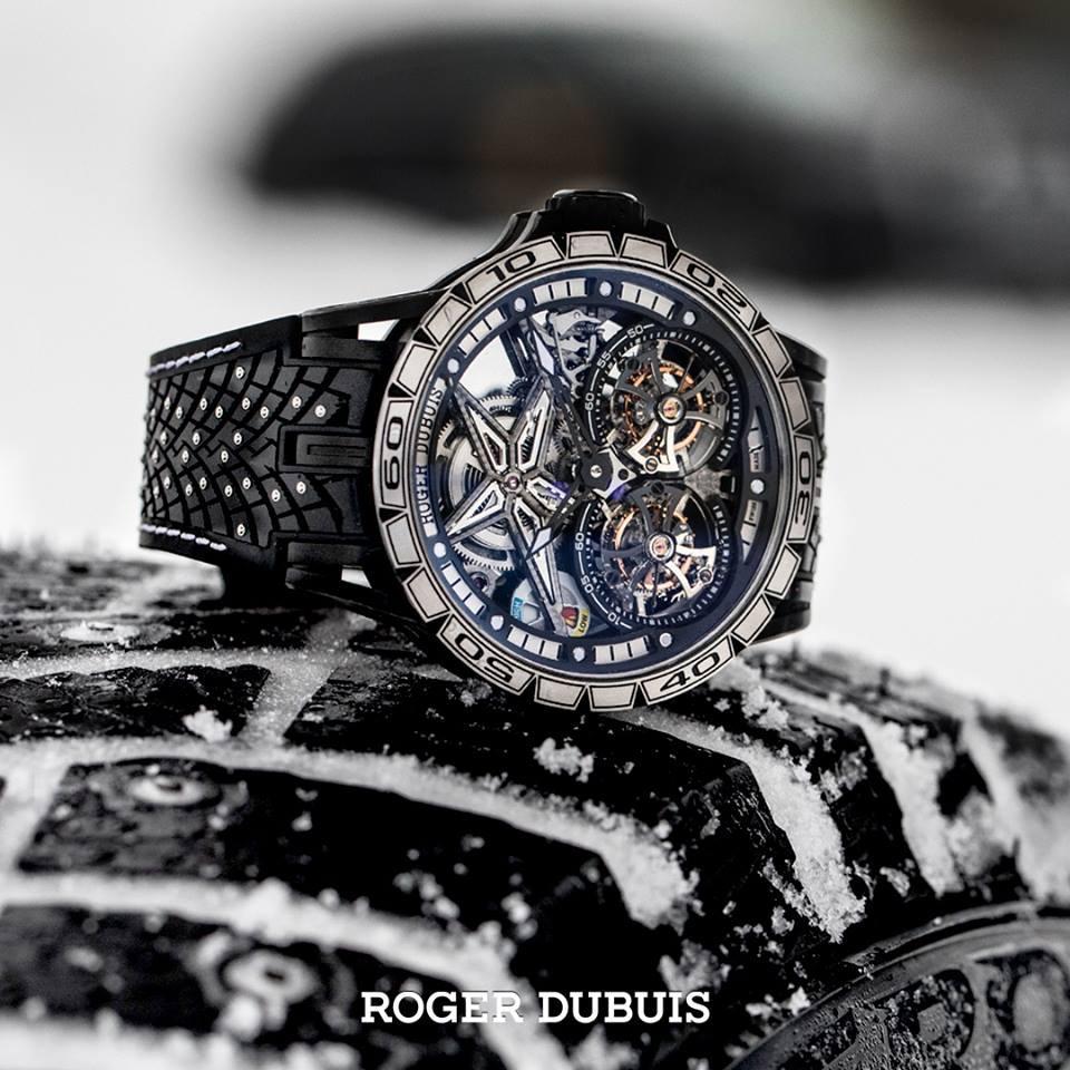 Вместе с шинами Pirelli Ice Zero 2 дебютировали часы с таким же названием от фирмы Roger Dubuis