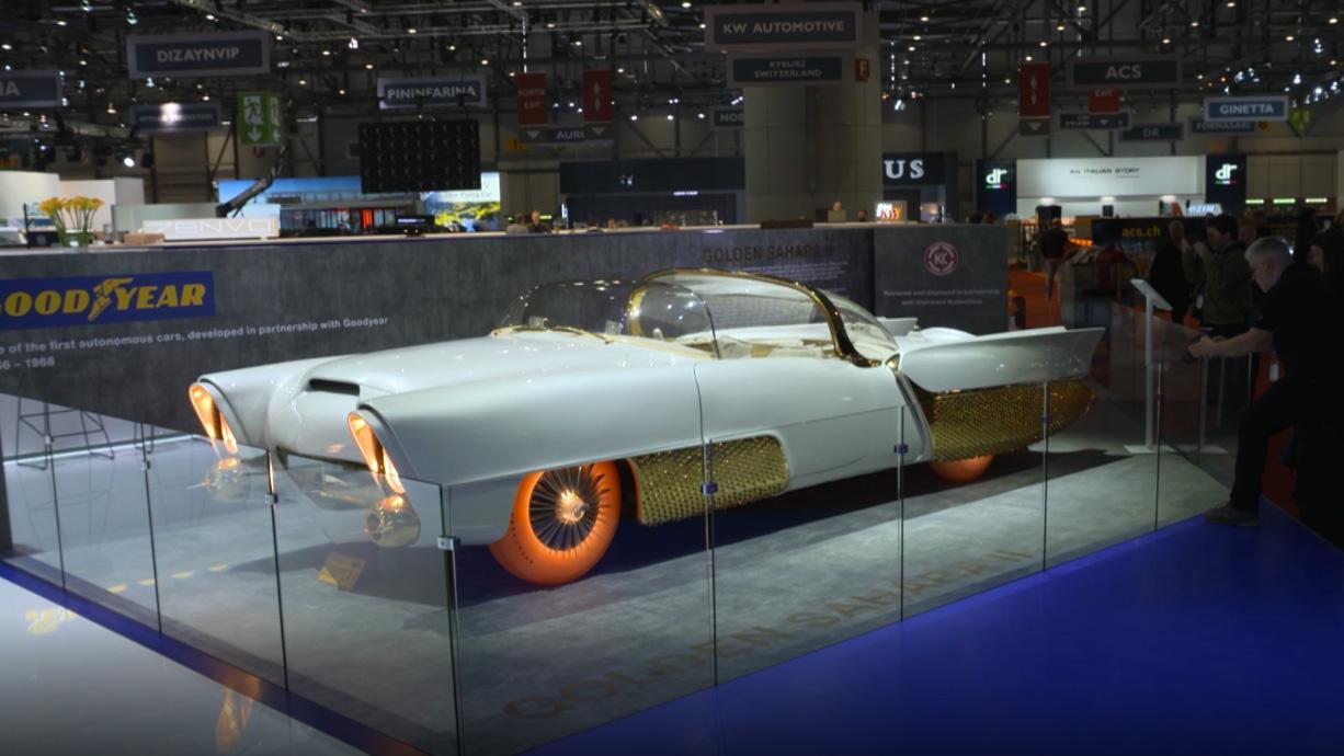 В Goodyear сделали новые полупрозрачные шины для ретро-концепта Golden Sahara II