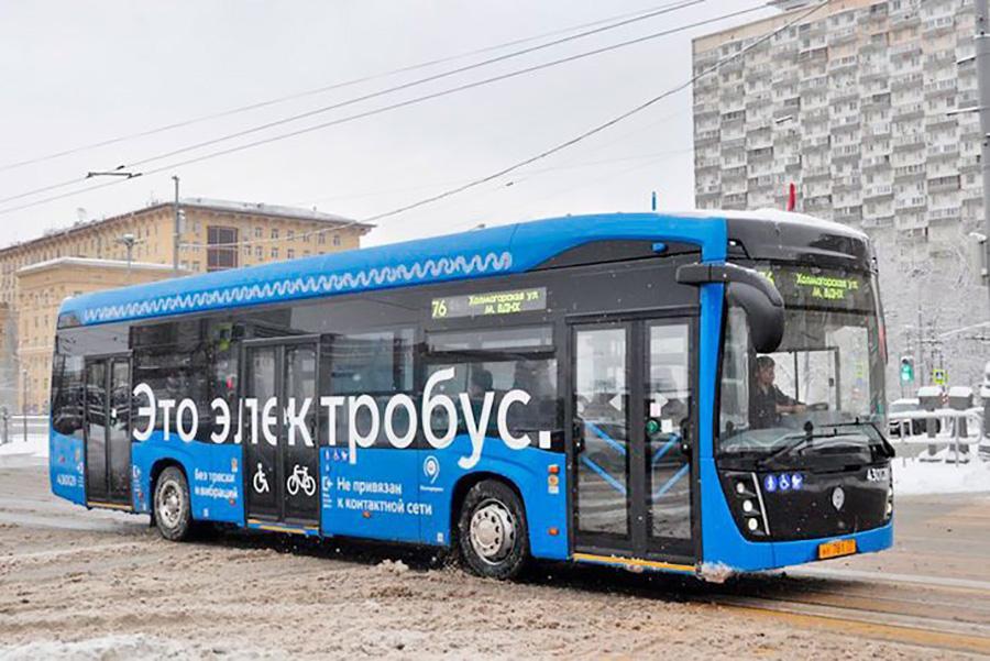 Электробусы вышли на шестой маршрут в Москве