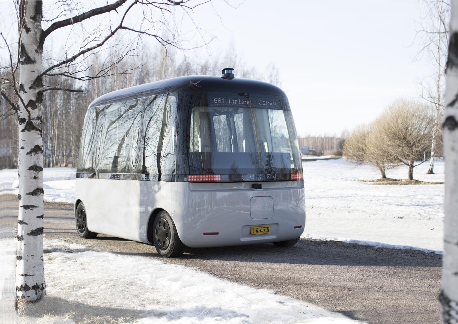 Беспилотный микроавтобус Gacha «обулся» в зимние шины Nokian Hakkapeliitta R3