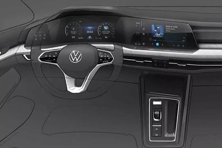 Volkswagen Golf задерживается, но показывает интерьер