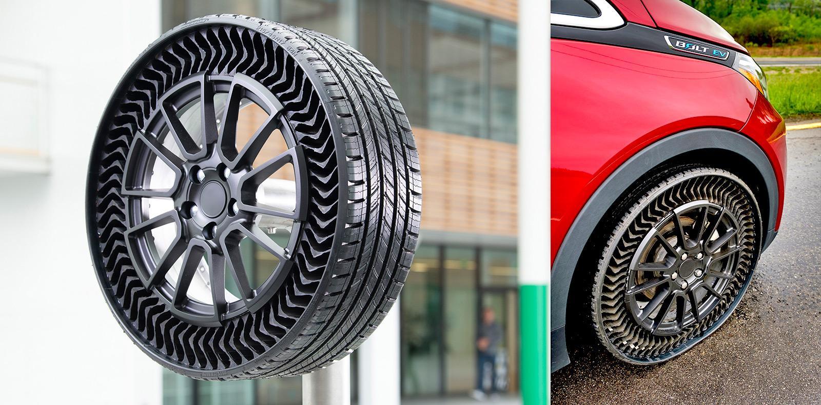 Michelin и GM представили непневматические шины Uptis для легковых автомобилей