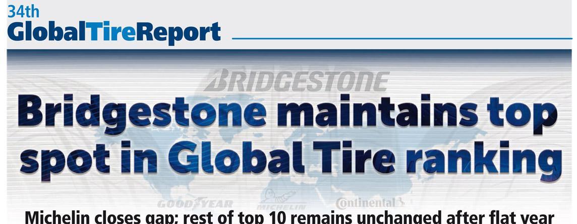 Bridgestone снова первый в рейтинге шинопроизводителей по версии Tire Business