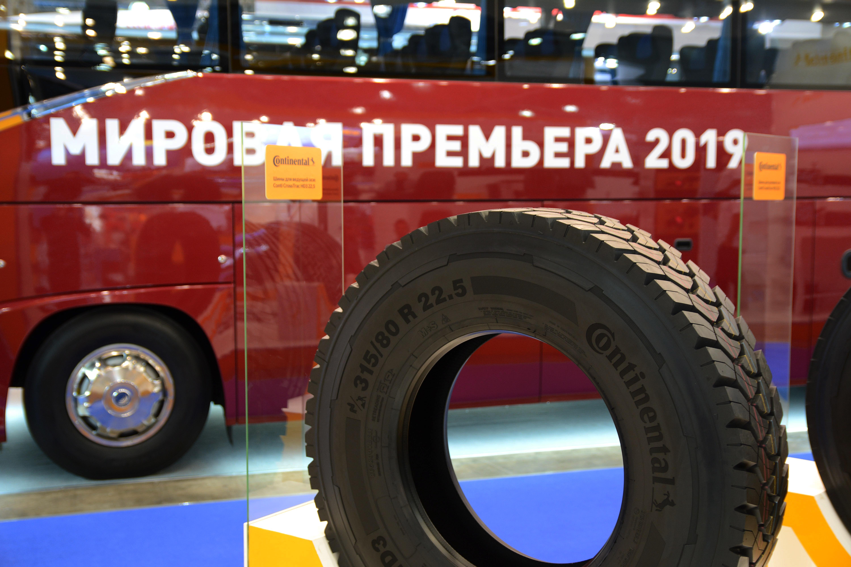 Continental представил на выставке в Москве новые грузовые шины Conti CrossTrac
