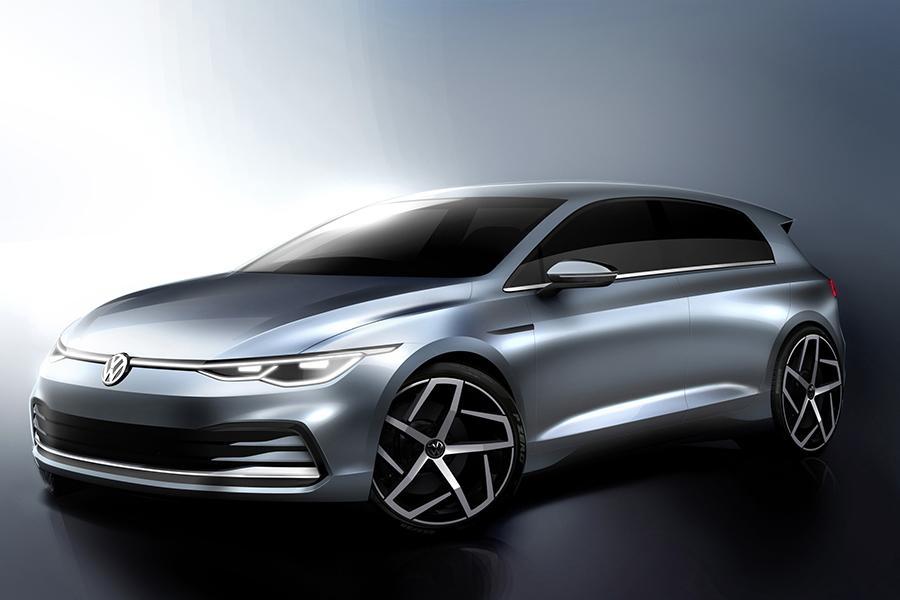 Volkswagen Golf VIII показали на фирменных скетчах