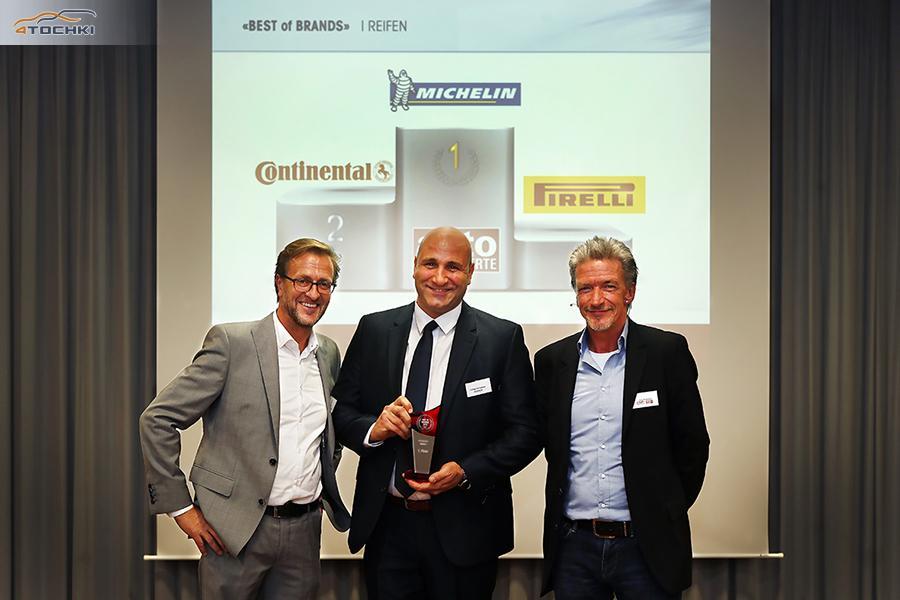 Мишлен признан лучшим шинным брендом в Швейцарии
