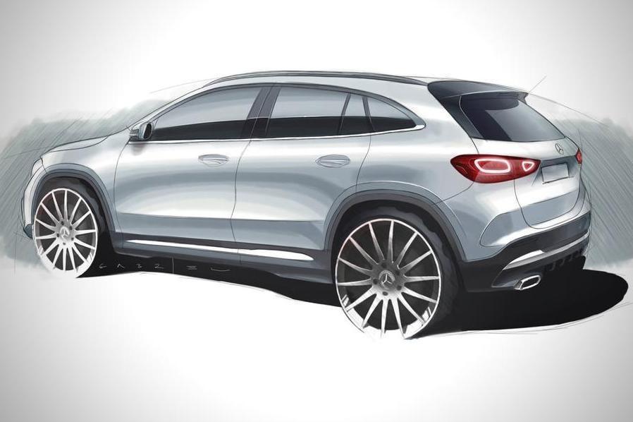 Mercedes выложил в сеть эскиз GLA второго поколения