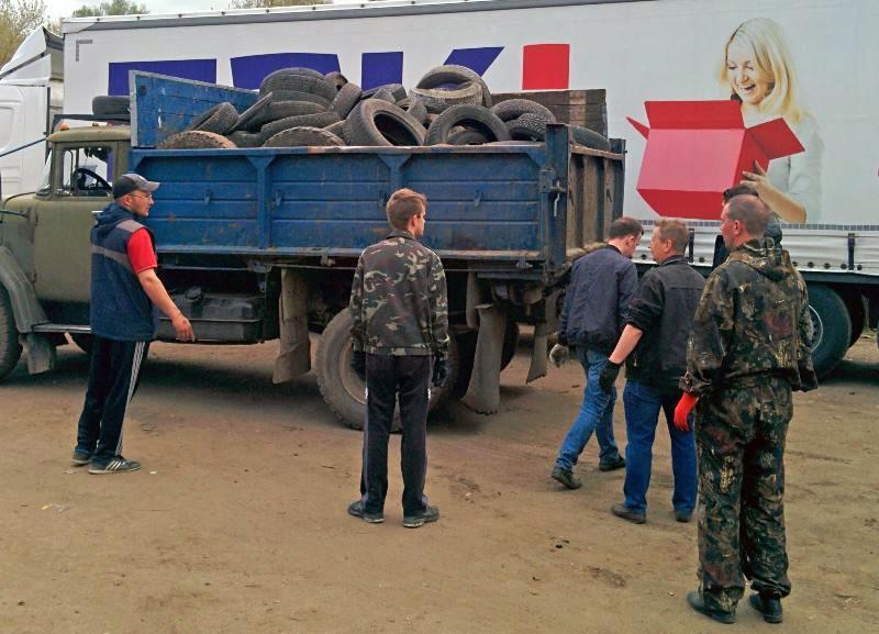 В рамках экологической акции костромичи сдали на переработку более 22 тысяч шин