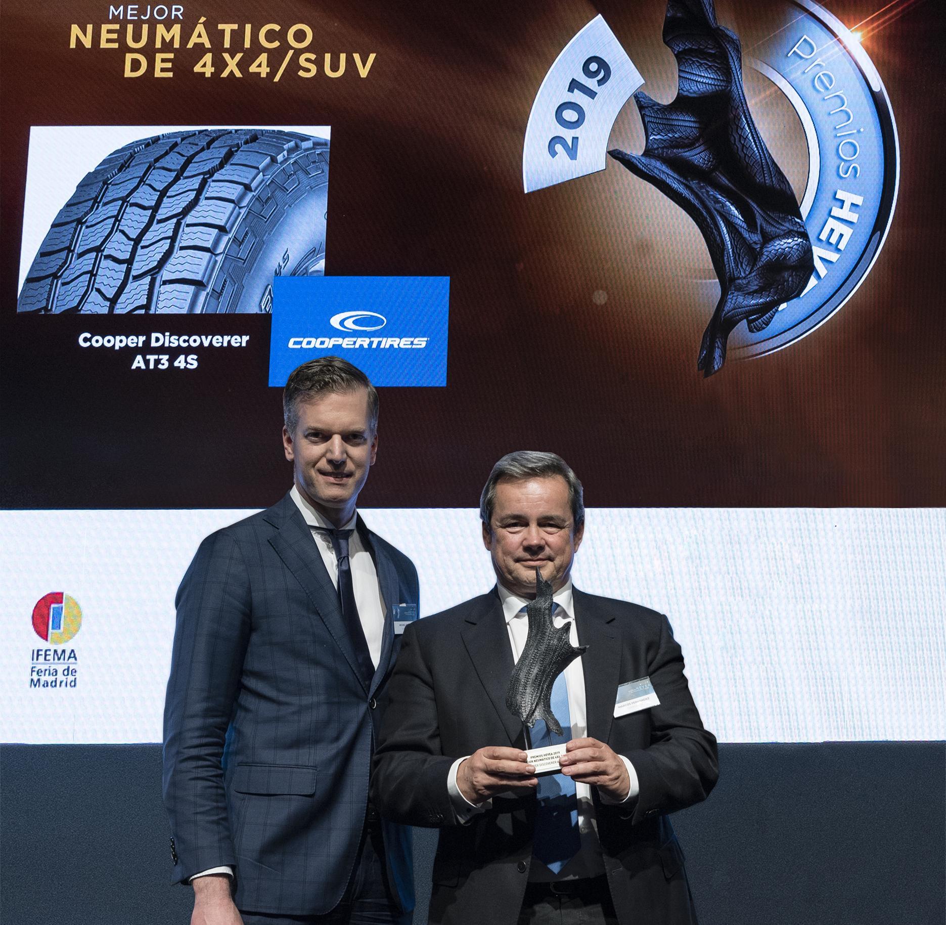 Cooper Discoverer AT3 4S признана «Лучшей SUV-шиной» в Испании