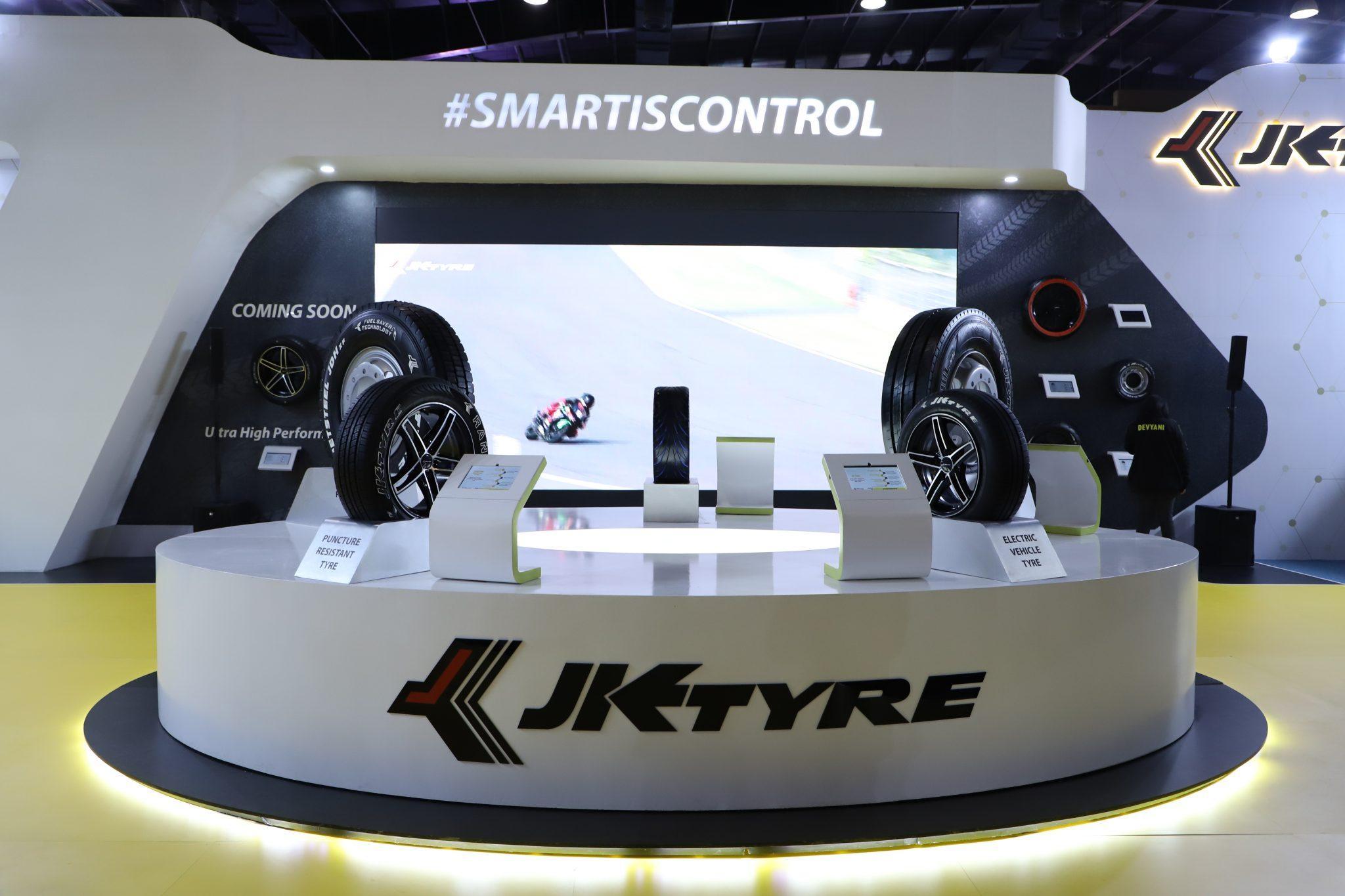JK Tire представила на Auto Expo 2020 цветные и проколостойкие концепт-шины