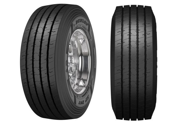 На европейский рынок выходят новые трейлерные шины Dunlop SP247