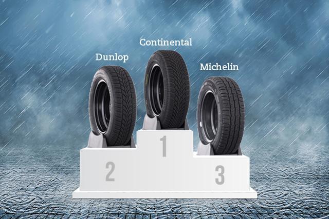 Continental, Dunlop и Michelin - самые популярные бренды зимних шин в Испании