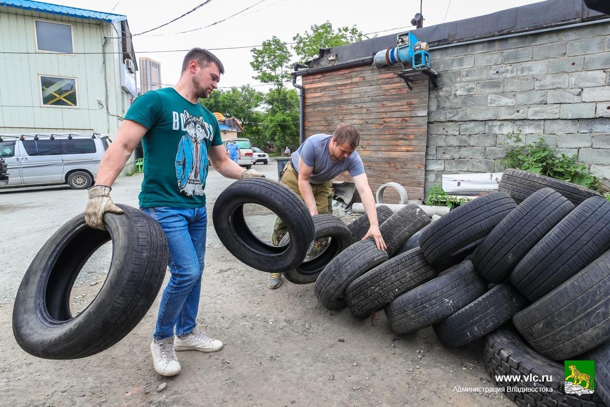 Во Владивостоке пройдет вторая в этом году акция по бесплатному сбору отработанных шин