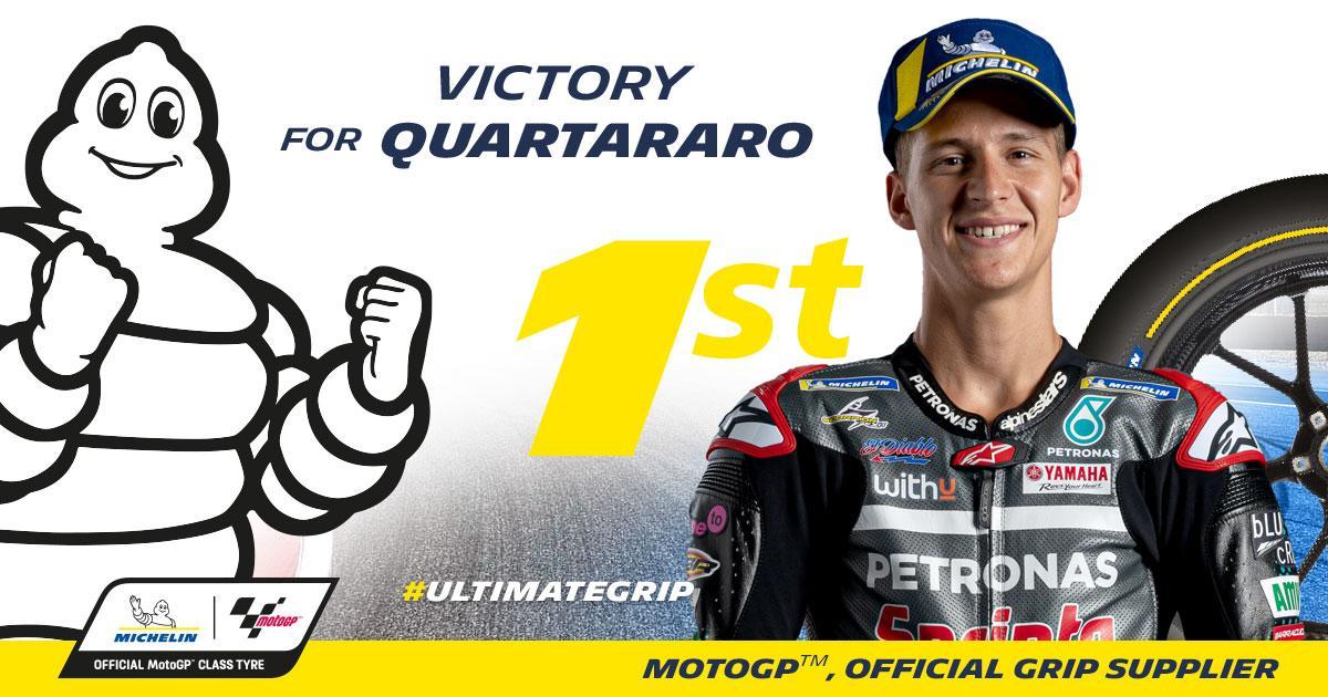 Третья победа Куартараро на шинах Michelin Power Slick