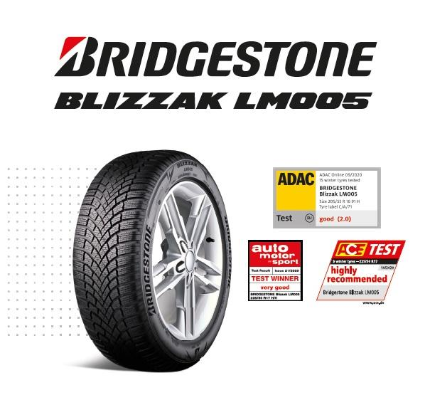 Bridgestone Blizzak LM005 доминирует в европейских сравнительных тестах