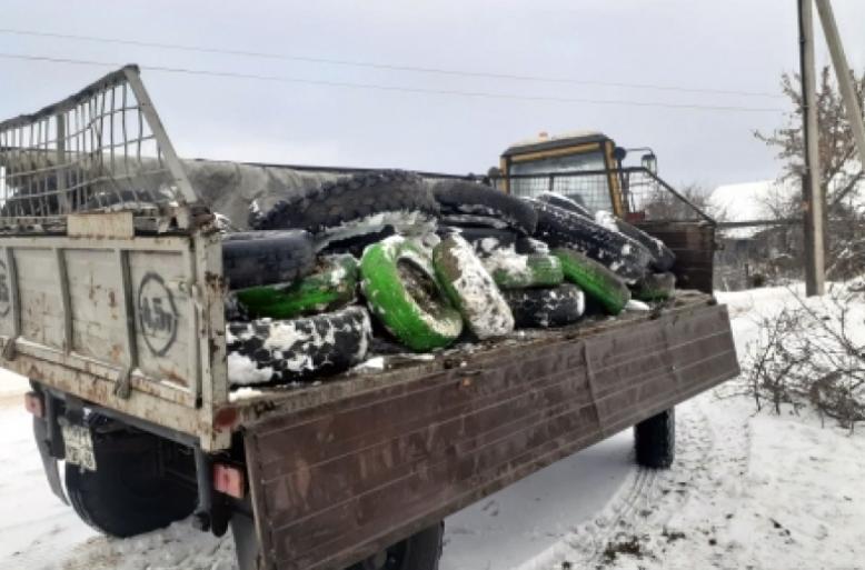 С начала года с территорий городских округов Липецка вывезено более 3 000 утильных шин