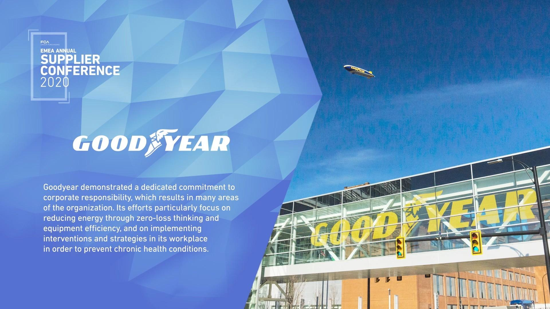 Goodyear отмечена премией FCA Sustainability Supplier of the Year 2020