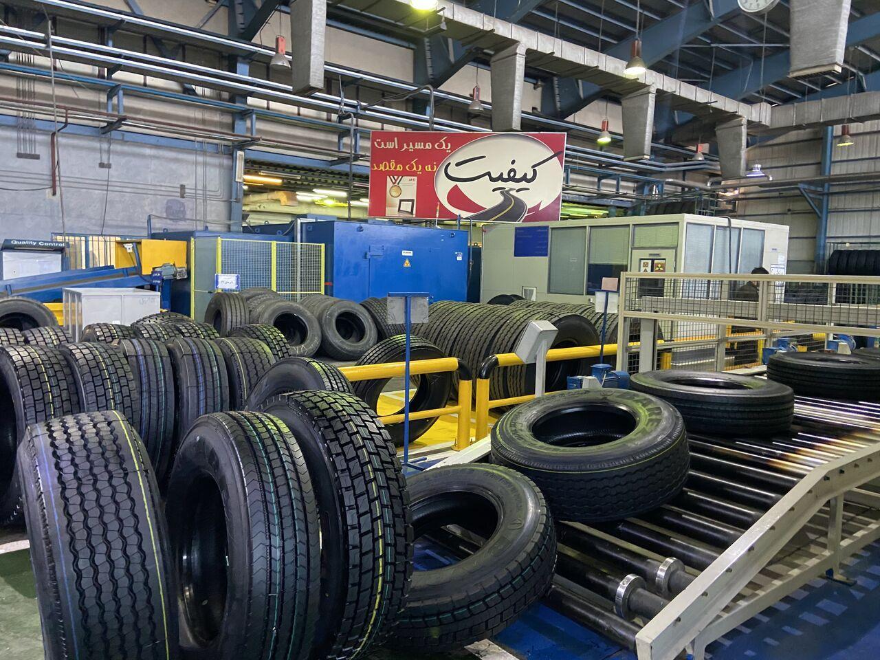 В прошлом году иранские заводы произвели более 25 миллионов шин