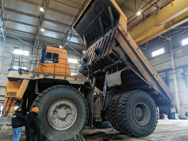 Бобруйские шины для карьерных самосвалов успешно проходят испытания в Казахстане