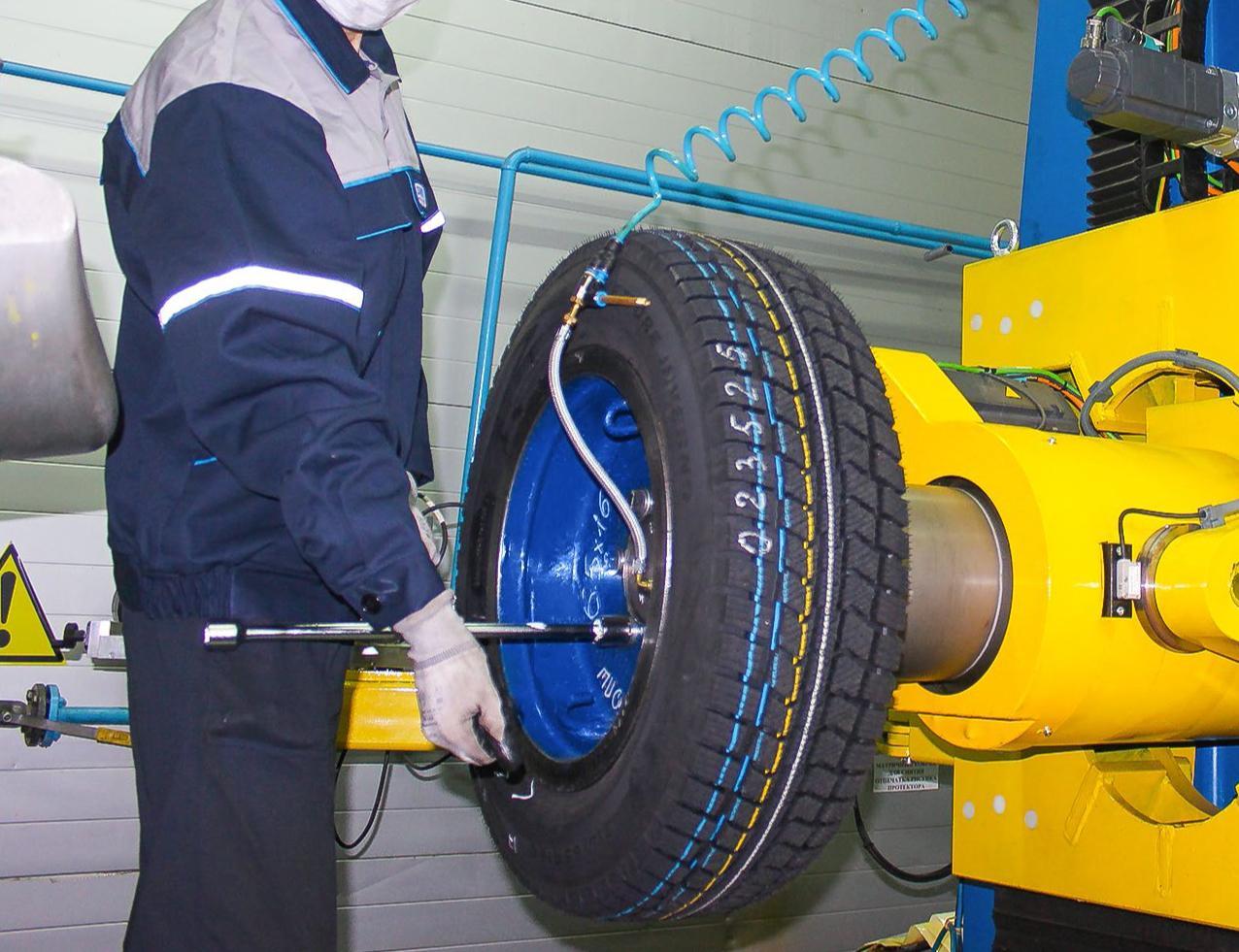 Грузовые шины Kama проходят испытания на новом сверхточном стенде
