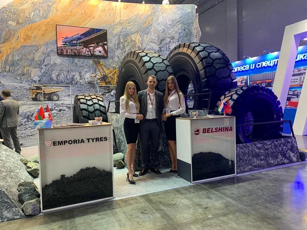 Крупногабаритные шины Belshina представили на выставке в Москве