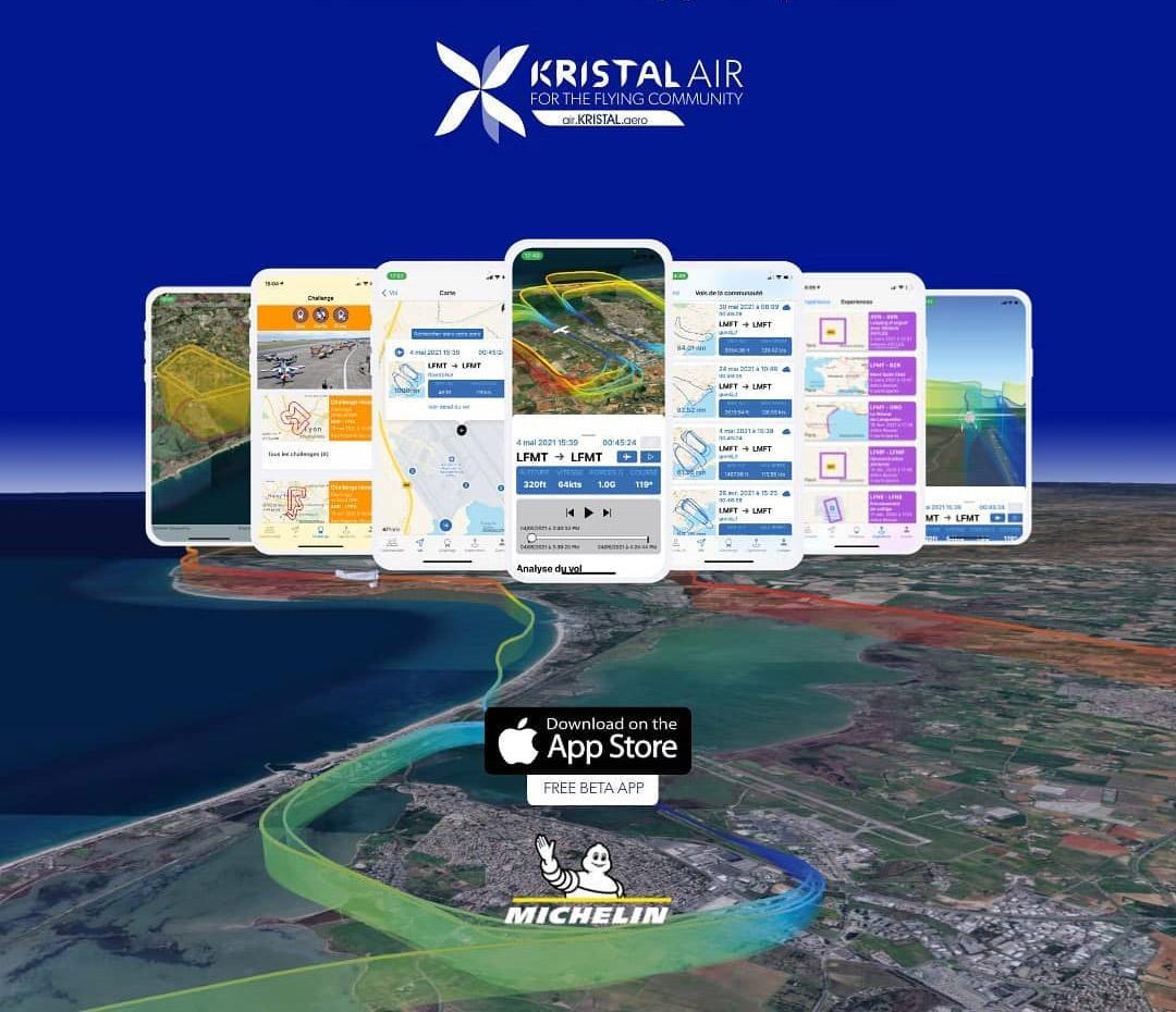 Мишлен и KRISTAL.aero представили инновационное мобильное приложение для авиаторов