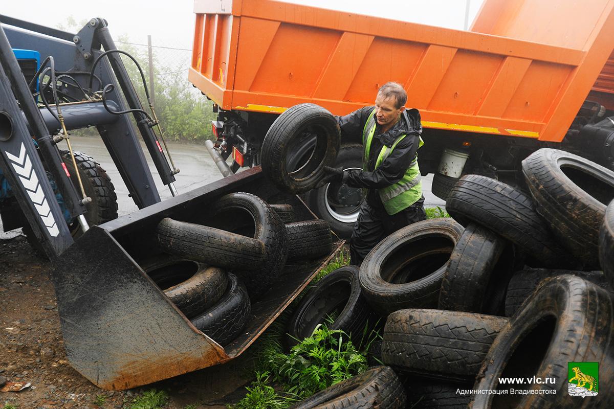 В мэрии Владивостока хотят избавить город от старых покрышек