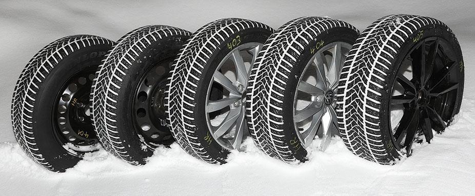 Cравнение зимних шин в пяти разных типоразмерах 2018