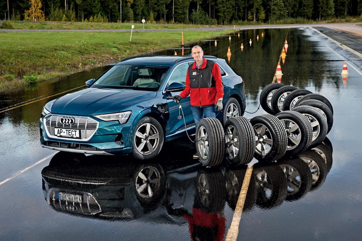 Авторевю: Сравнительный тест летних шин 255/55 R19 на электромобиле Audi e-tron