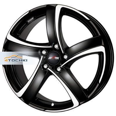 Диски Alutec Shark Racing black front polished 7x17/4x98 ЕТ35 D58,1