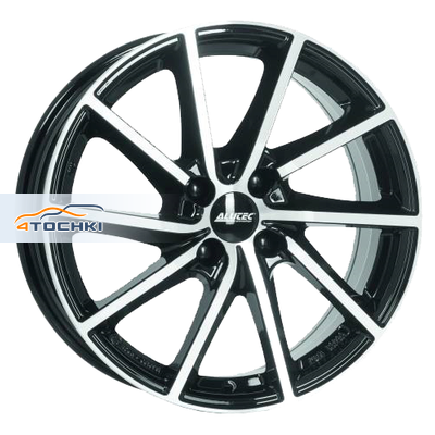 Диски Alutec Singa Diamant black front polished 7x17/4x100 ЕТ44 D56,6