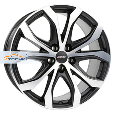 Диски Alutec W10 Racing black front polished 8x18/5x112 ЕТ31 D66,5