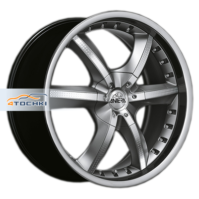 Диски Antera 389 Racing Black Lip Polished 10x22/6x139,7 ЕТ35 D78,1