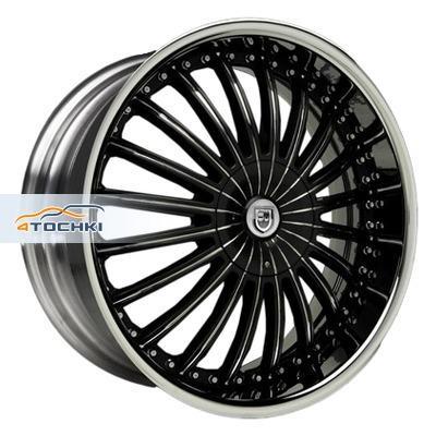 Диски Lexani CS3 Black/Chrome 8,5x22/5x120 ЕТ37 D78,1
