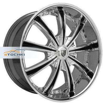 Диски Lexani LX19 Chrome/Black 9,5x22/5x112 ЕТ35 D74