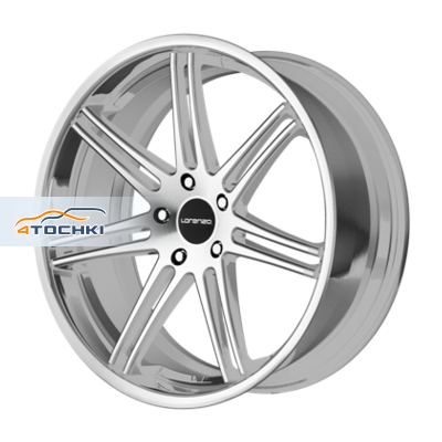 Диски Lorenzo WL198 Silver/Machined 9x22/5x120 ЕТ38 D74,1